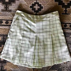Izod Cool FX XFG mint green plaid pleated skort, 4
